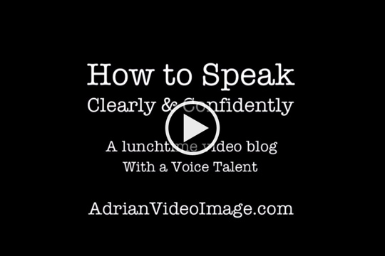 Speaking Clearly and Confidently on Camera - Tips from a Voice Talent