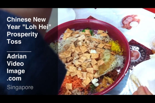 """Chinese New Year """"Loh Hei"""" or Prosperity Toss"""