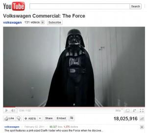 Darth Vader Volkswagon VW Commercial Viral Video