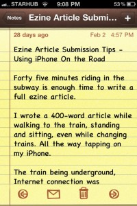 iPhone Notes App