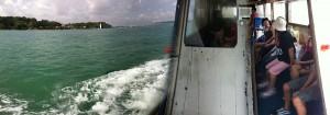 Sailing to Pulau Ubin