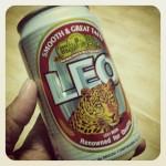 Tasting Thai Beer LEO