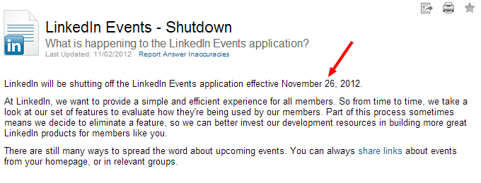 LinkedIn-Events-Shutdown