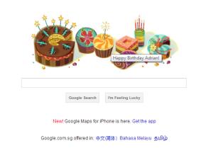Google Birthday Wish