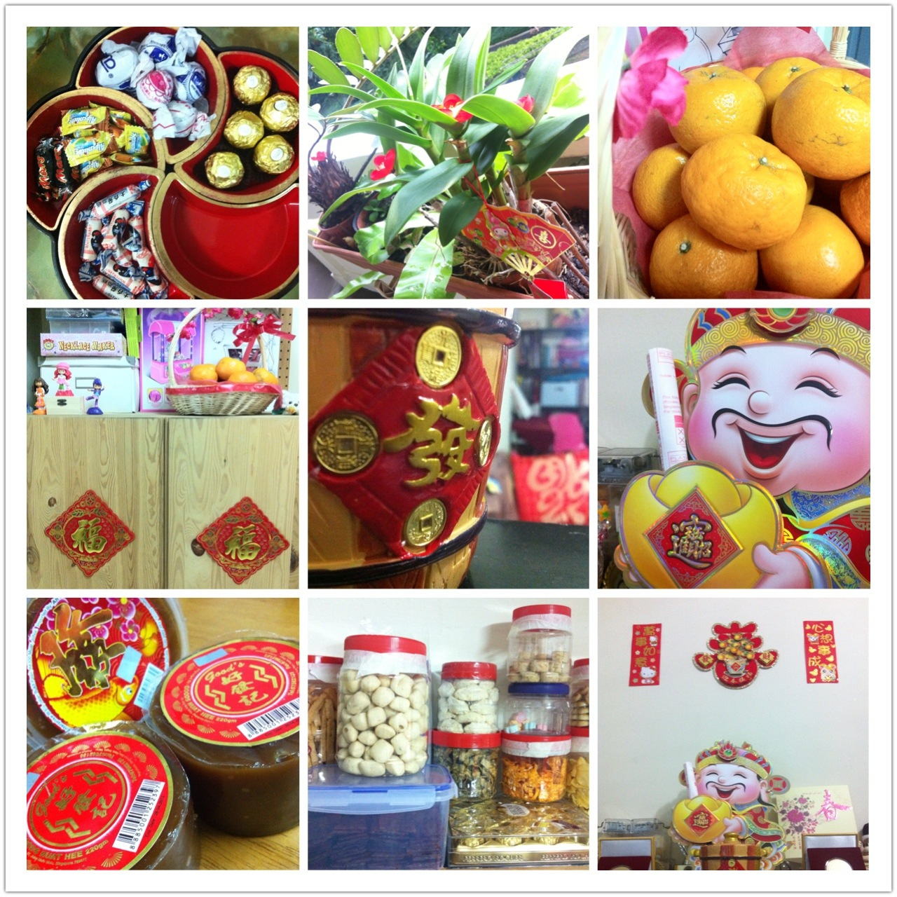 Chinese new year decorations at home adrian video image for Chinese home decorations
