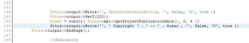 Wordpress Anthologize Plugin pdf copyright span problem