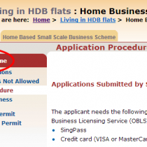 Applying for HDB Home Office Scheme License