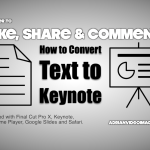 Converting Text File to Keynote Slides on Mac