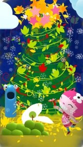 Christmas tree doodle with iPhone app Drawing Carl