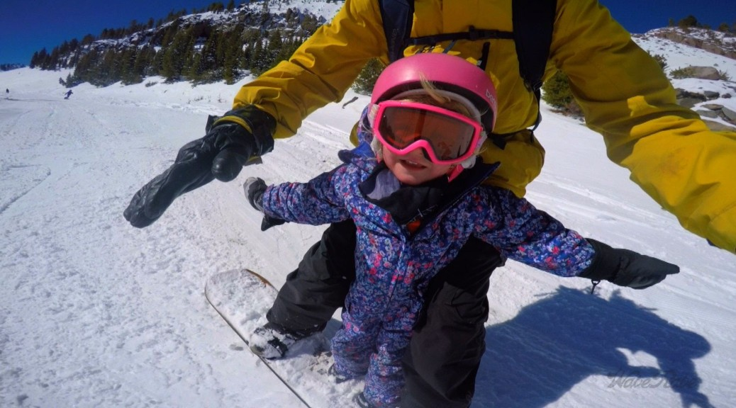 Father Snowboards With His Daughter… Would you do that?