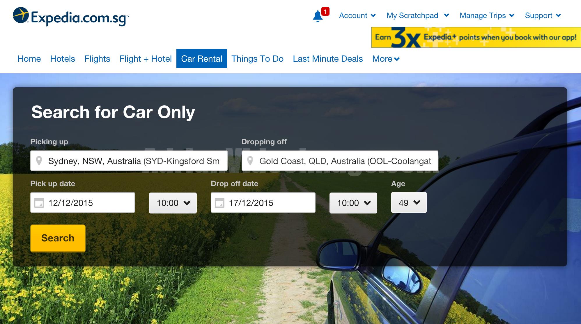 Expedia.com.sg Car Rental