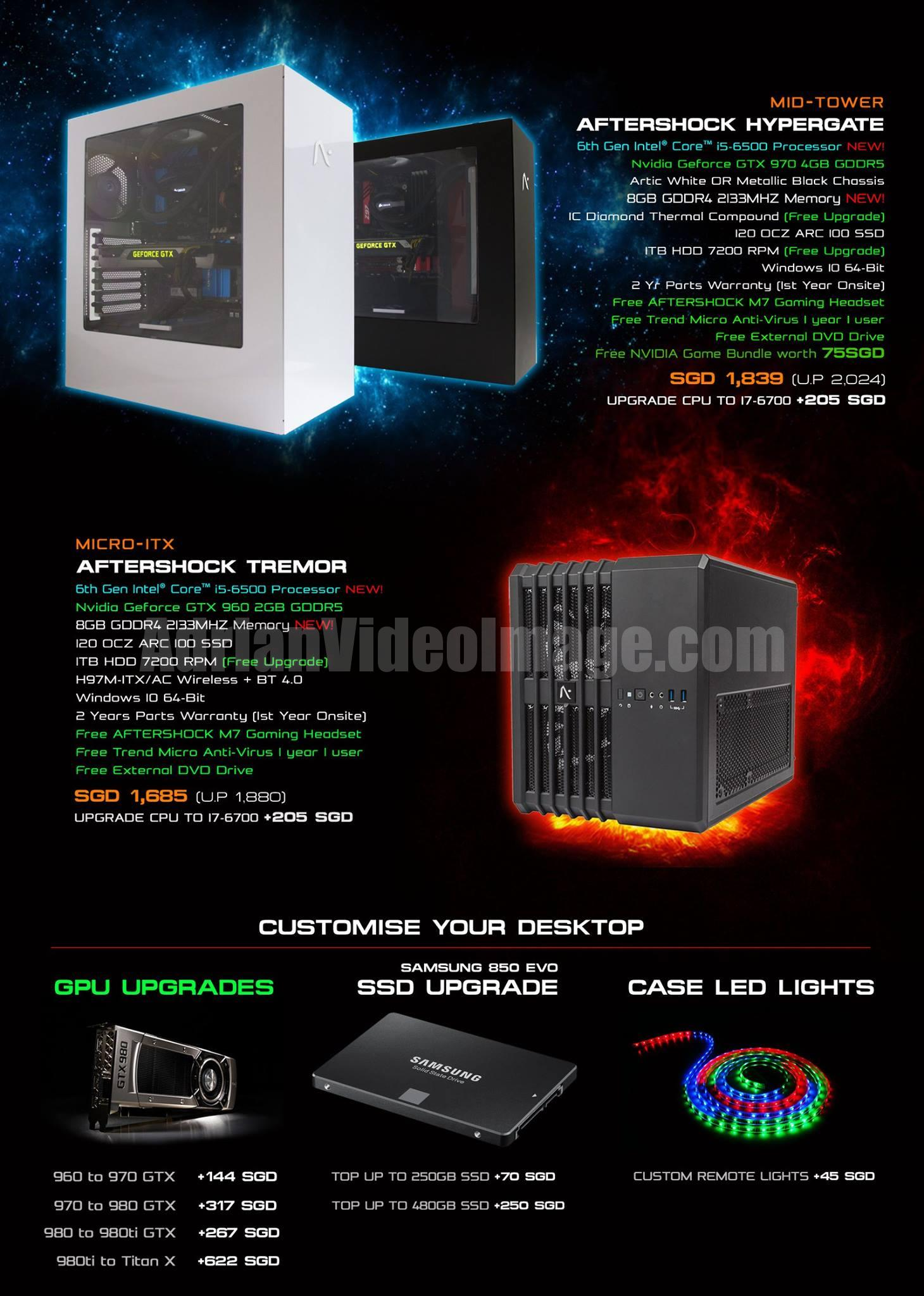 AfterShock PC Promotion 2015 - pg6 - Hypergate / Tremor / Customise