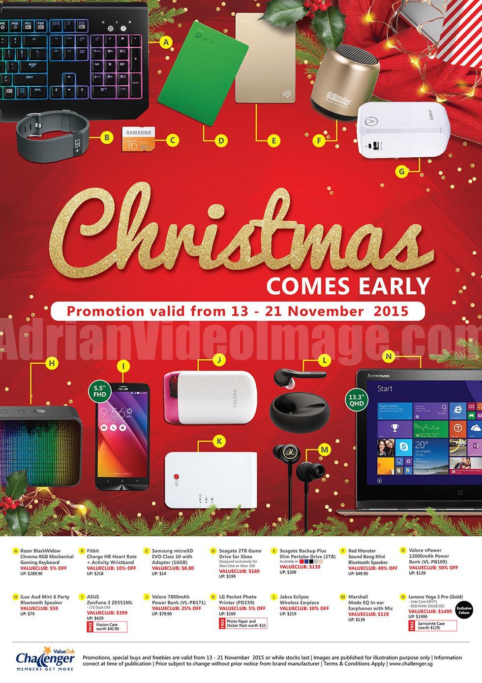 Christmas 2015 Promotion @ Challenger Singapore 13-21 Nov 2015