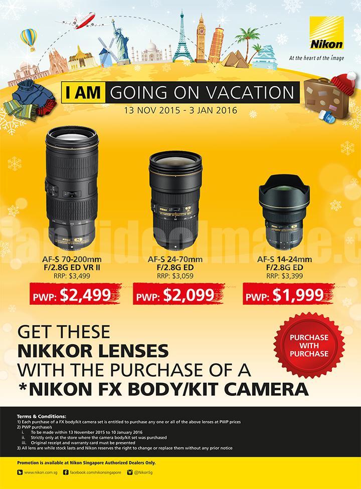 Nikon Singapore Promotion 13 NOV 2015 to 3 JAN 2016 - Flyer 2 of 2 - Nikkor Lenses