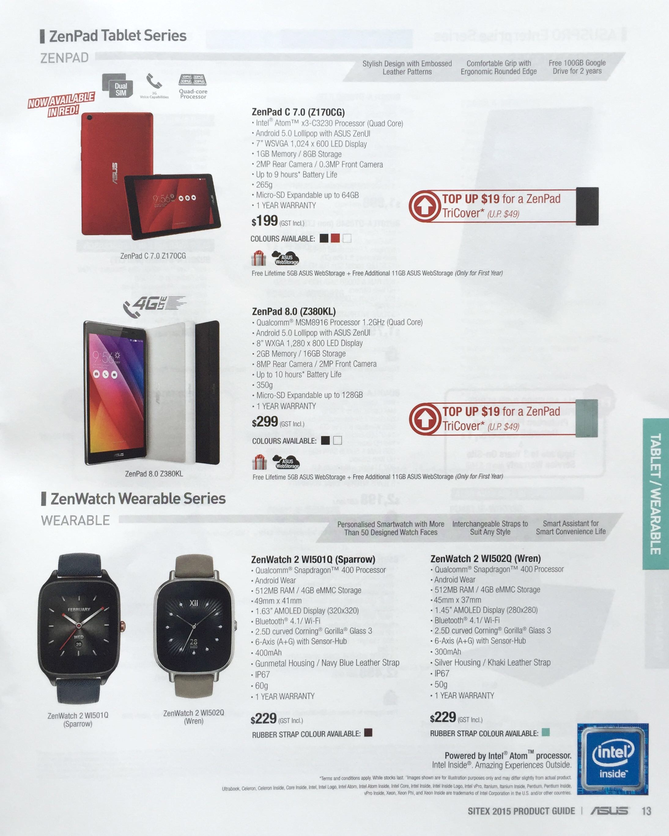 ASUS @ SITEX 2015 - ZenPad Tablet Series and ZenWatch Wearable Series
