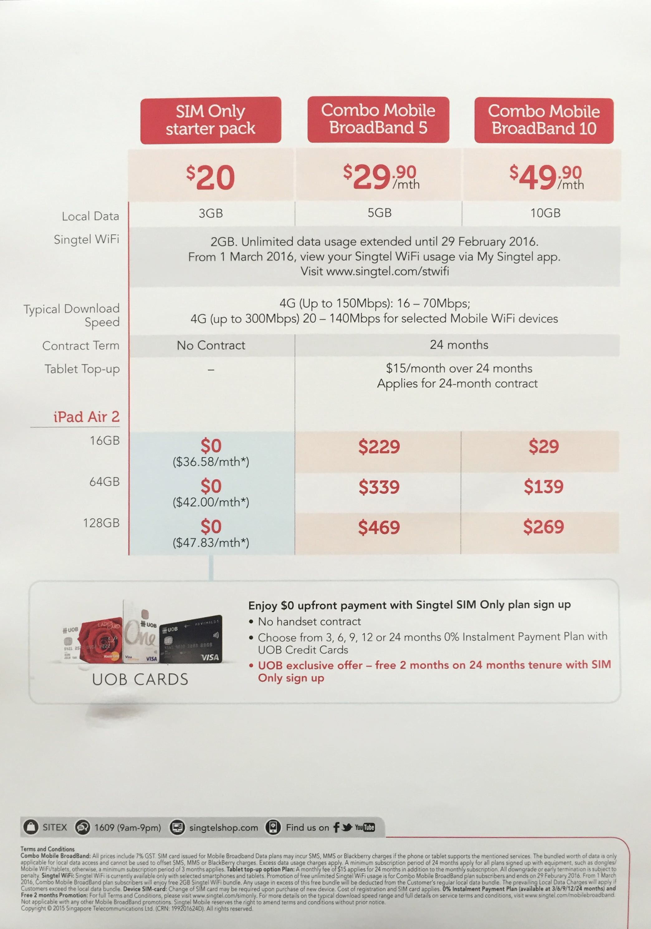 Singtel @ SITEX 2015 - iPad Air 2 Data Plan