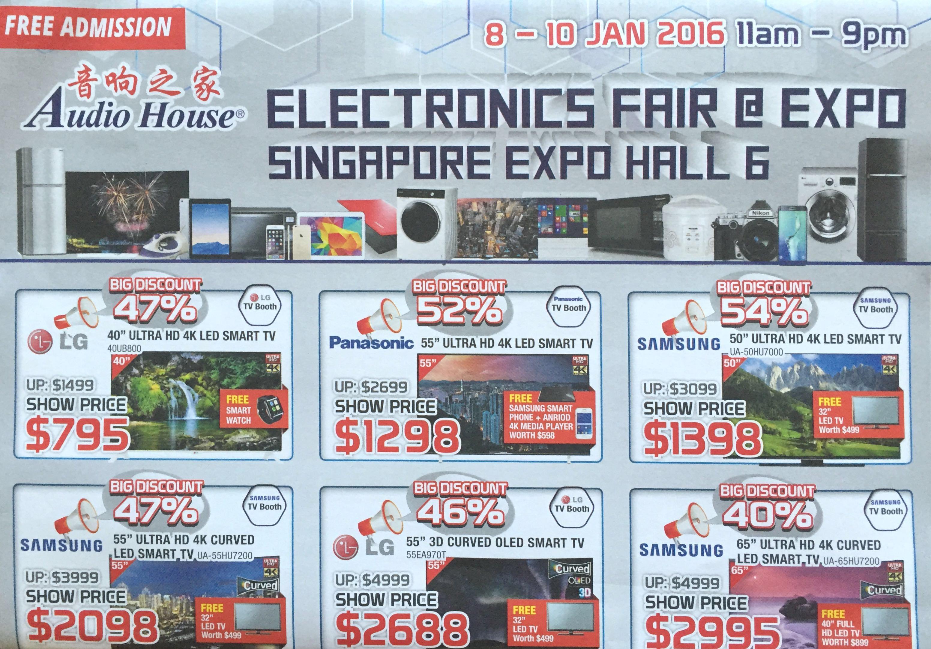 Electronics Fair @ EXPO | 8 - 10 January 2016 | by Audio House | pg1