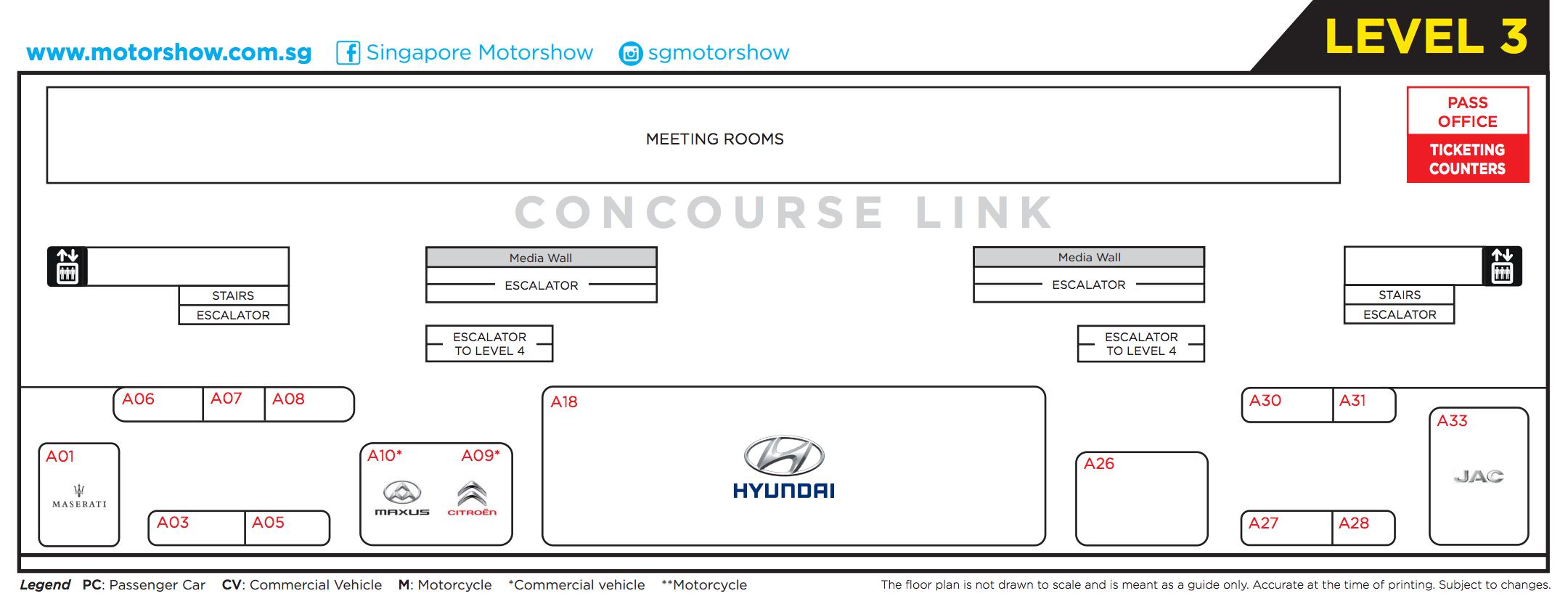 Singapore Motorshow 2017 Floor Plan Level 3