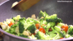 Step 4 - Fry Broccoli, Tomatoes and Chicken with Vegetable Oil