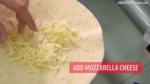 Step 6 - Spread Mozzarella Cheese on a Tortilla Wrap