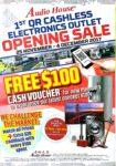 1st QR Cashless Elecrtronics Outlet Opening Sale | 25 Nov - 4 Dec 2017 | Audio House | Brochure pg1