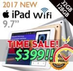 2017 New Model APPLE iPad with WiFi 5th 32GB / 128GB 9.7 inches iOS 10 Black Silver Gold