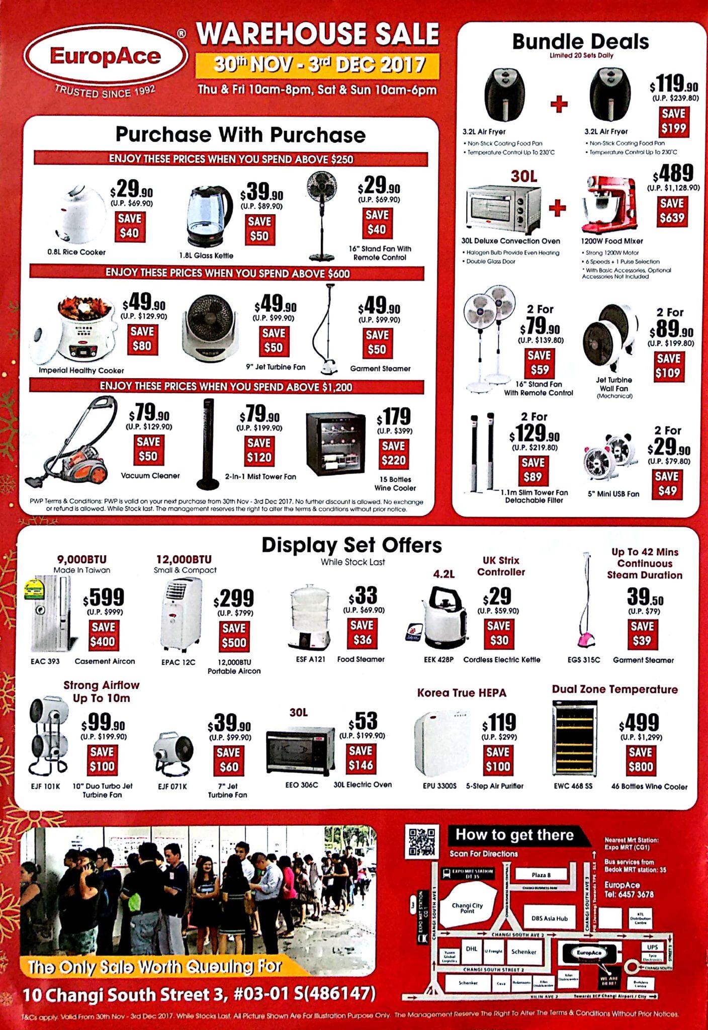 EuropAce Warehouse Sale   30 Nov - 3 Dec 2017   Brochure pg4