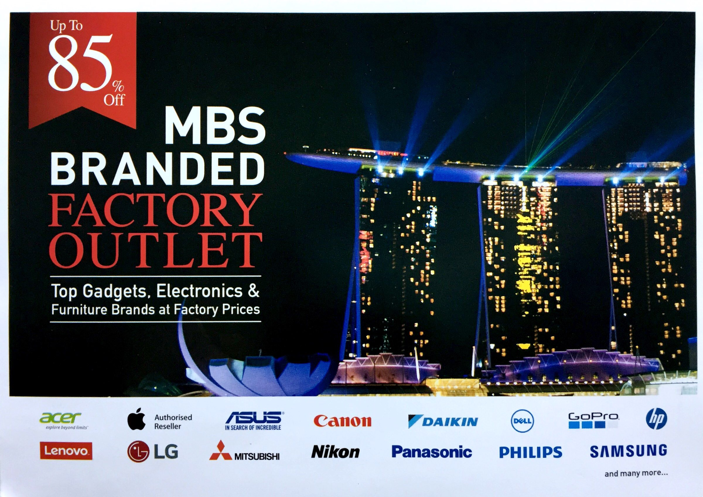 MBS Branded Factory Outlet   20 to 22 October 2017   11am to 9pm   Marina Bay Sands Convention Centre Level 1 Hall A and B  pg1
