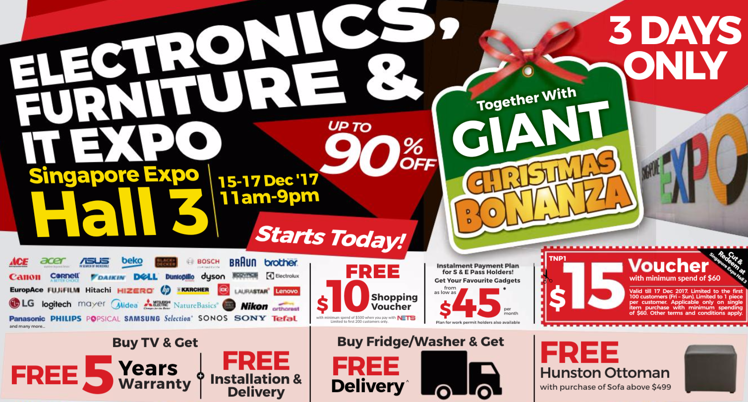 Electronics, Furniture & IT Expo | 15 to 17 December 2017 | pg1