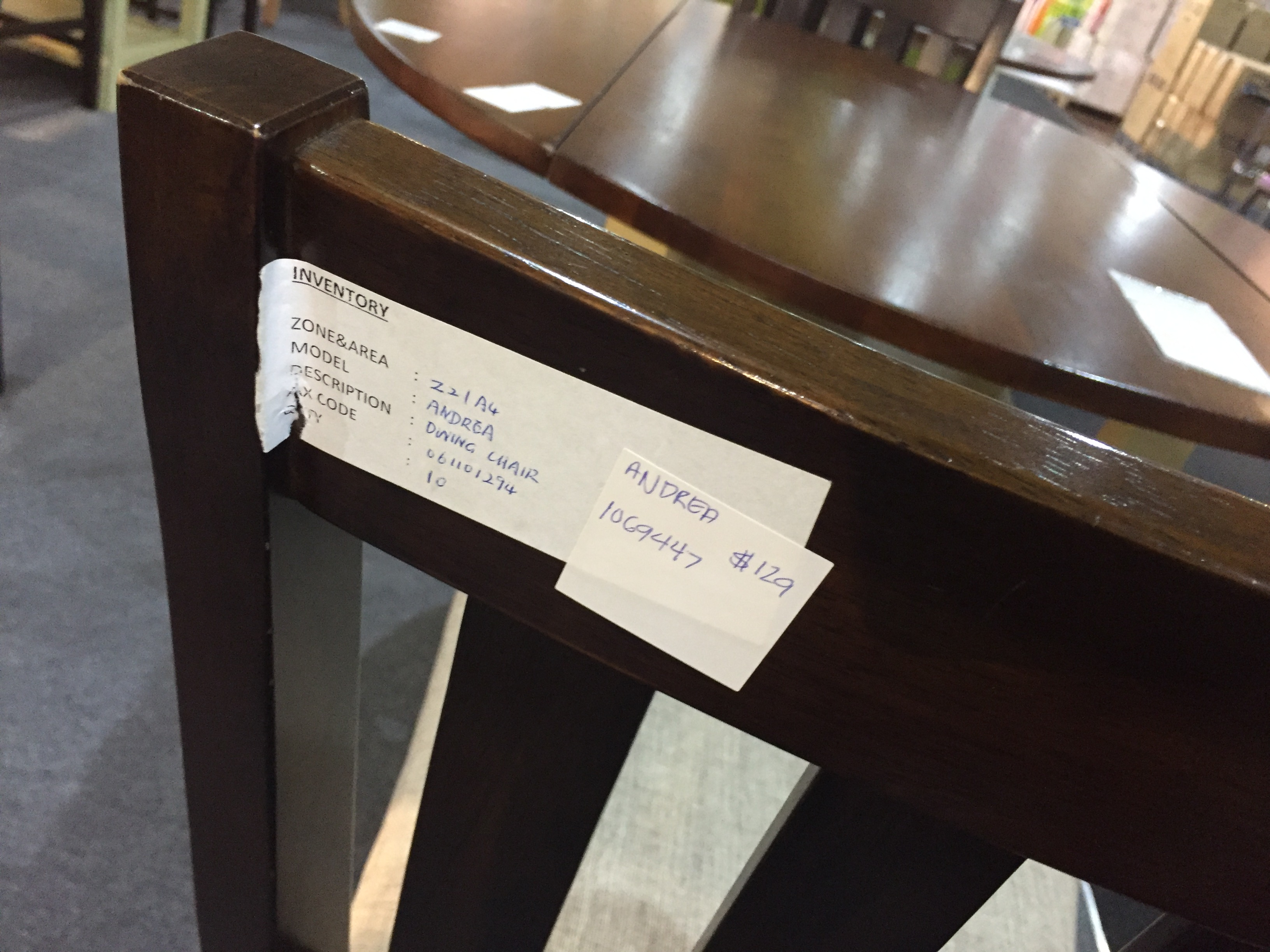 The chair for the wine rack table is S$129