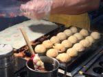 Takoyaki in the making.