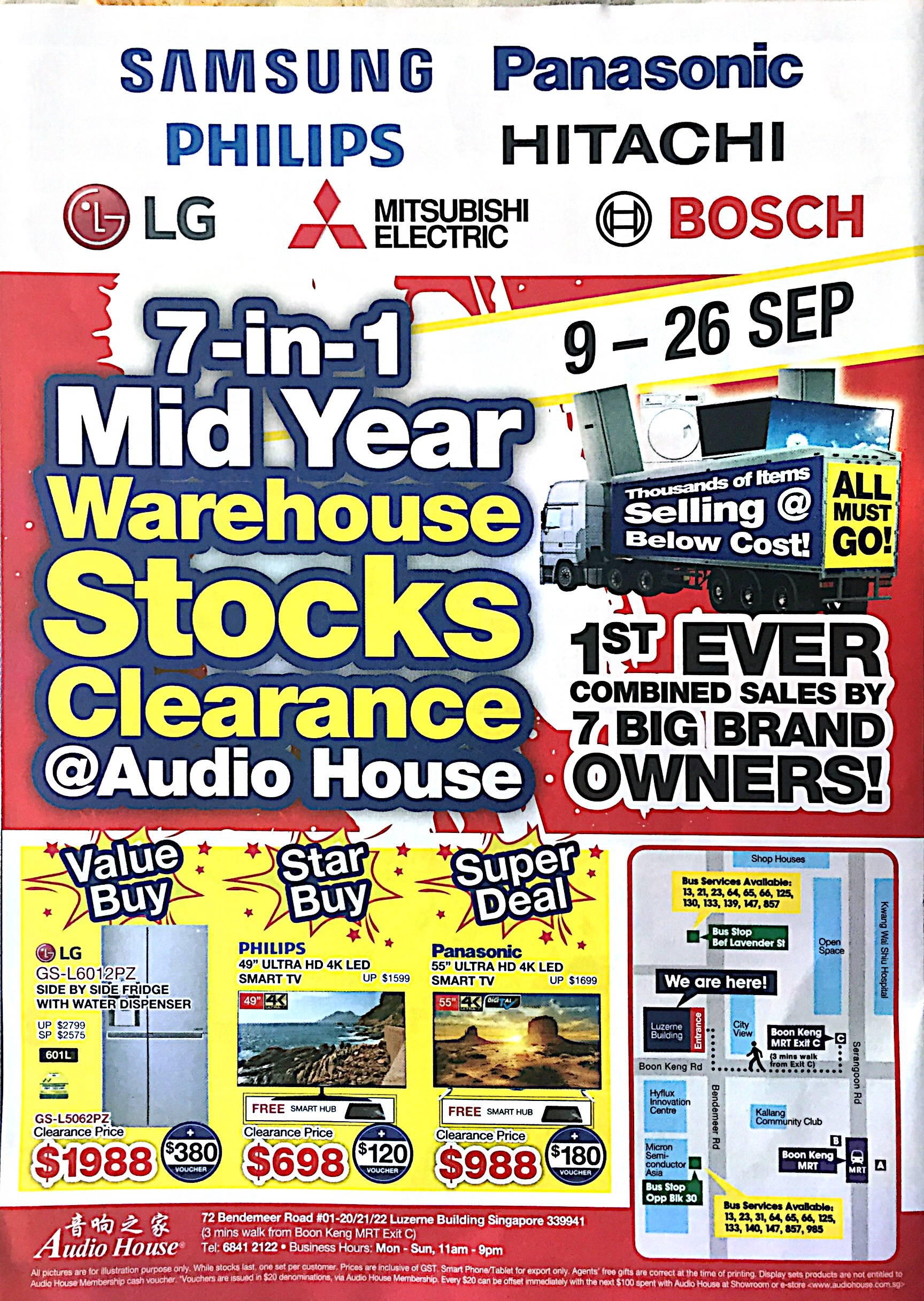 Warehouse Stock Clearance @ Audio House | 9-26 Sept 2017 | pg1