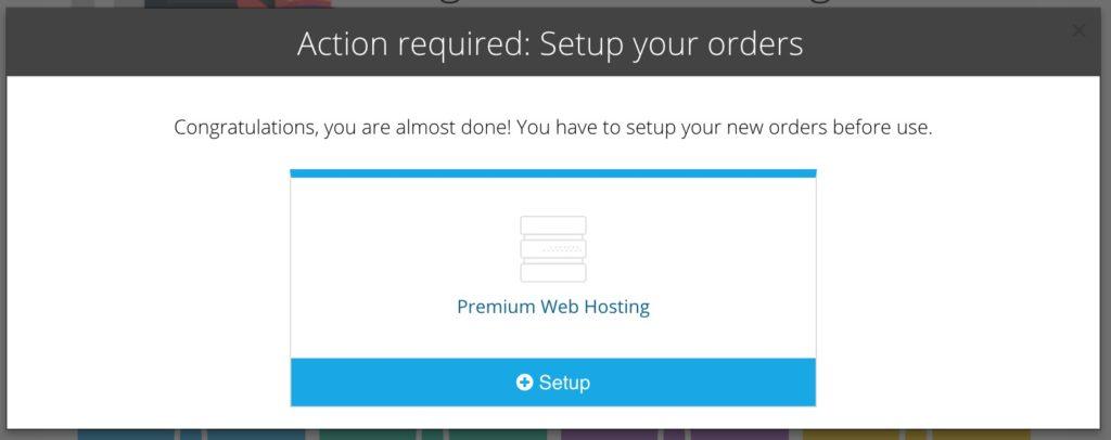 Hostinger Web Hosting Order Setup