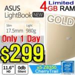 ASUS 4GB Ram 980g Lightbook Ultra-SlimLaptop