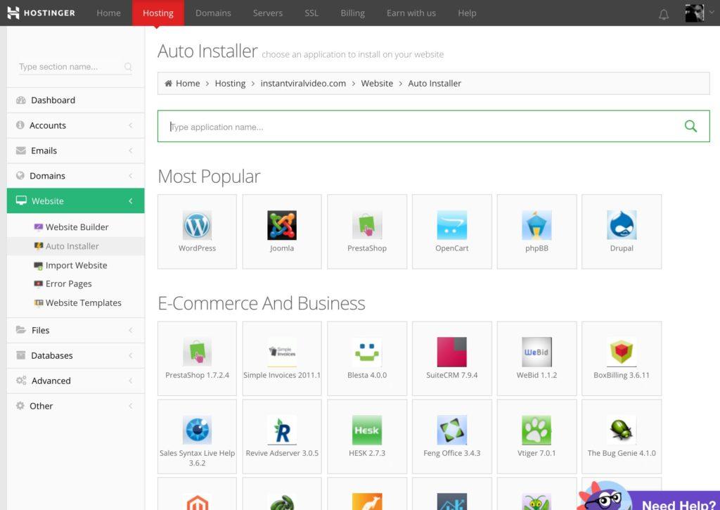 Best Cheap Web Hosting Singapore | Hostinger Auto Installer