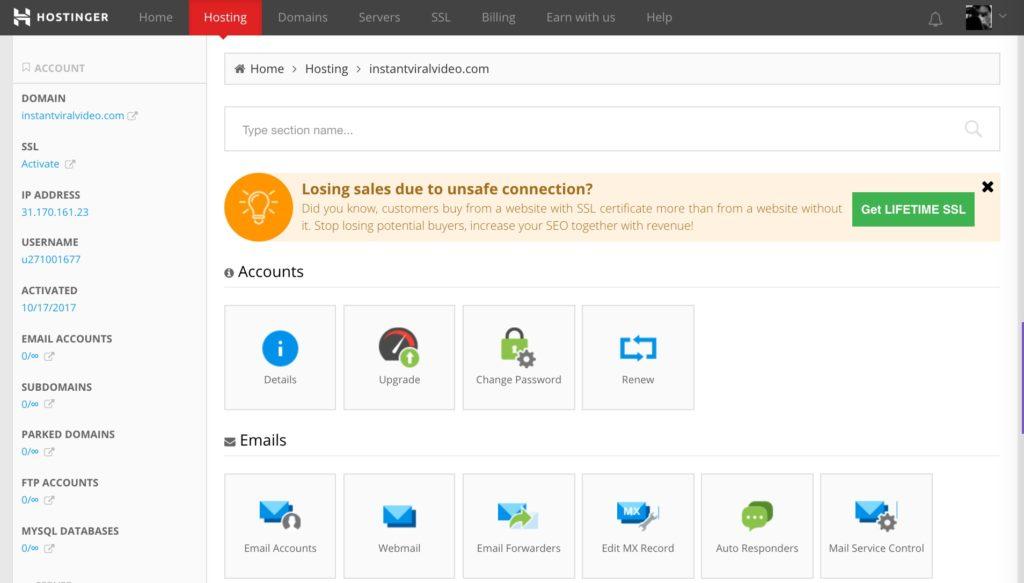 Best Cheap Web Hosting Singapore | Hostinger New Cpanel
