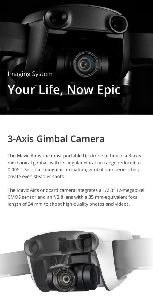 DJI Mavic Air - 3-Axis Gimbal Camera