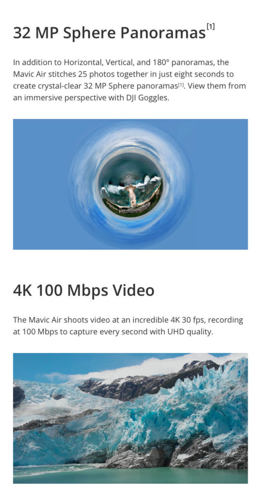 DJI Mavic Air - 32MP Sphere Panoramas and 4K 100Mbps Video