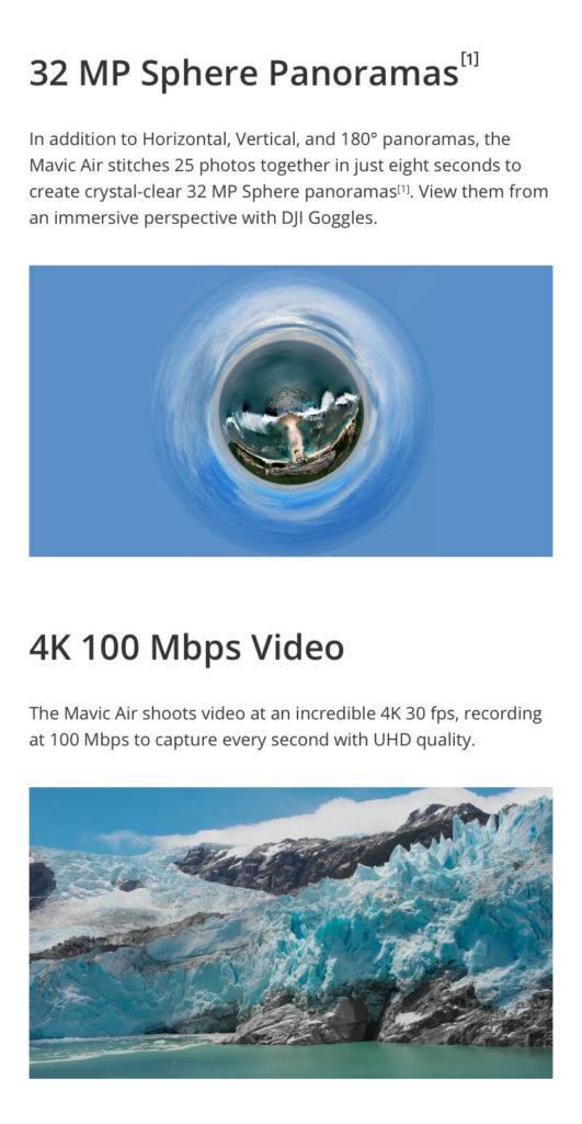 DJI Mavic Air - 32MP Sphere Panoramas and 4K 100Mbps Video
