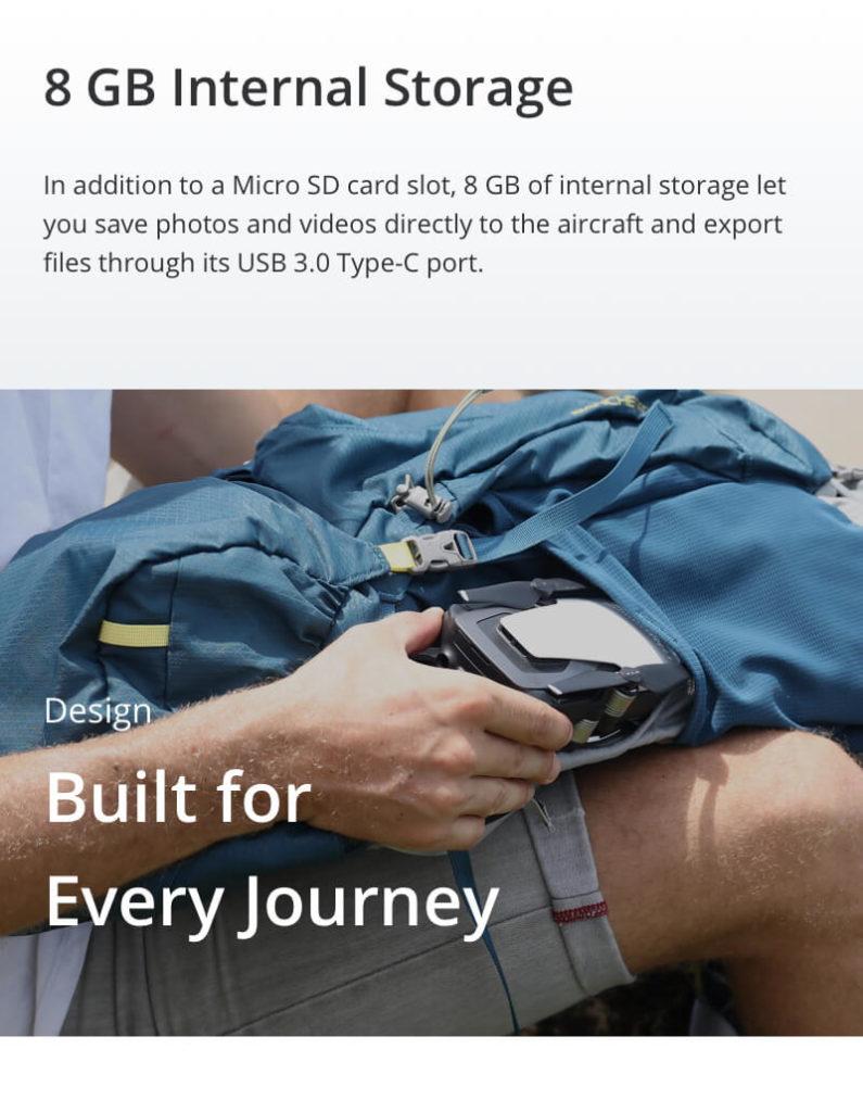 DJI Mavic Air - 8GB Internal Storage