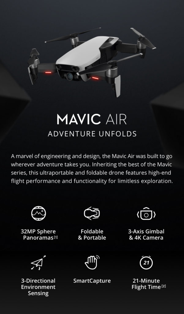 DJI Mavic Air Foldable Frone Features