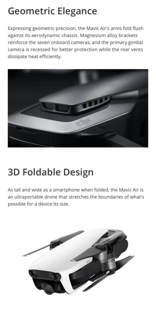 DJI Mavic Air - Geometric Precision and Foldable Design