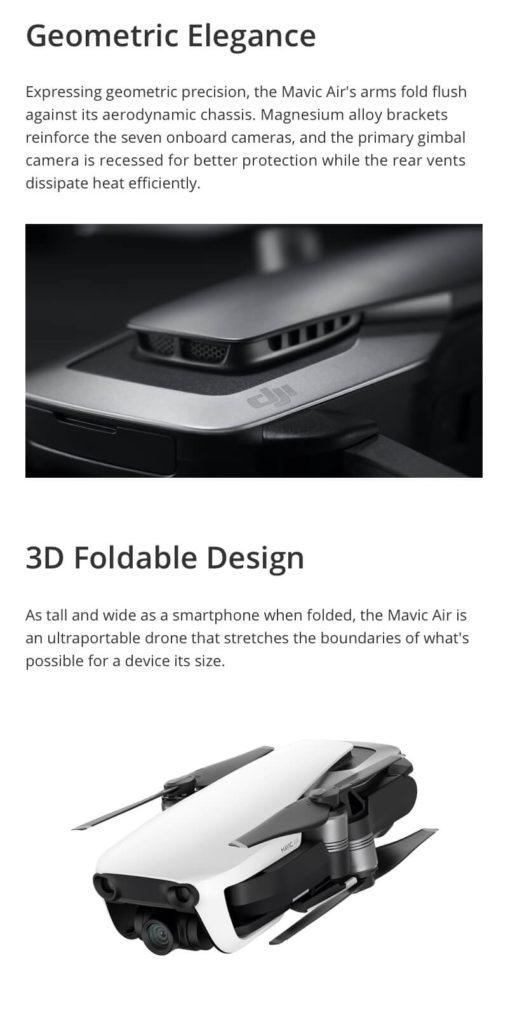 DJI Mavic Air - Geometric Precision and Foldable Design