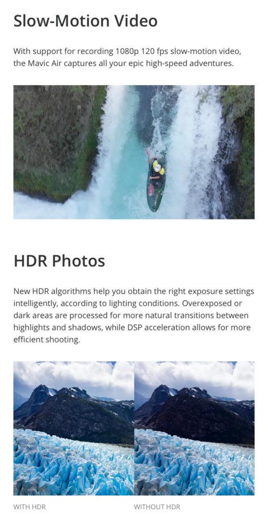 DJI Mavic Air - Slow Motion Video and HDR Photos