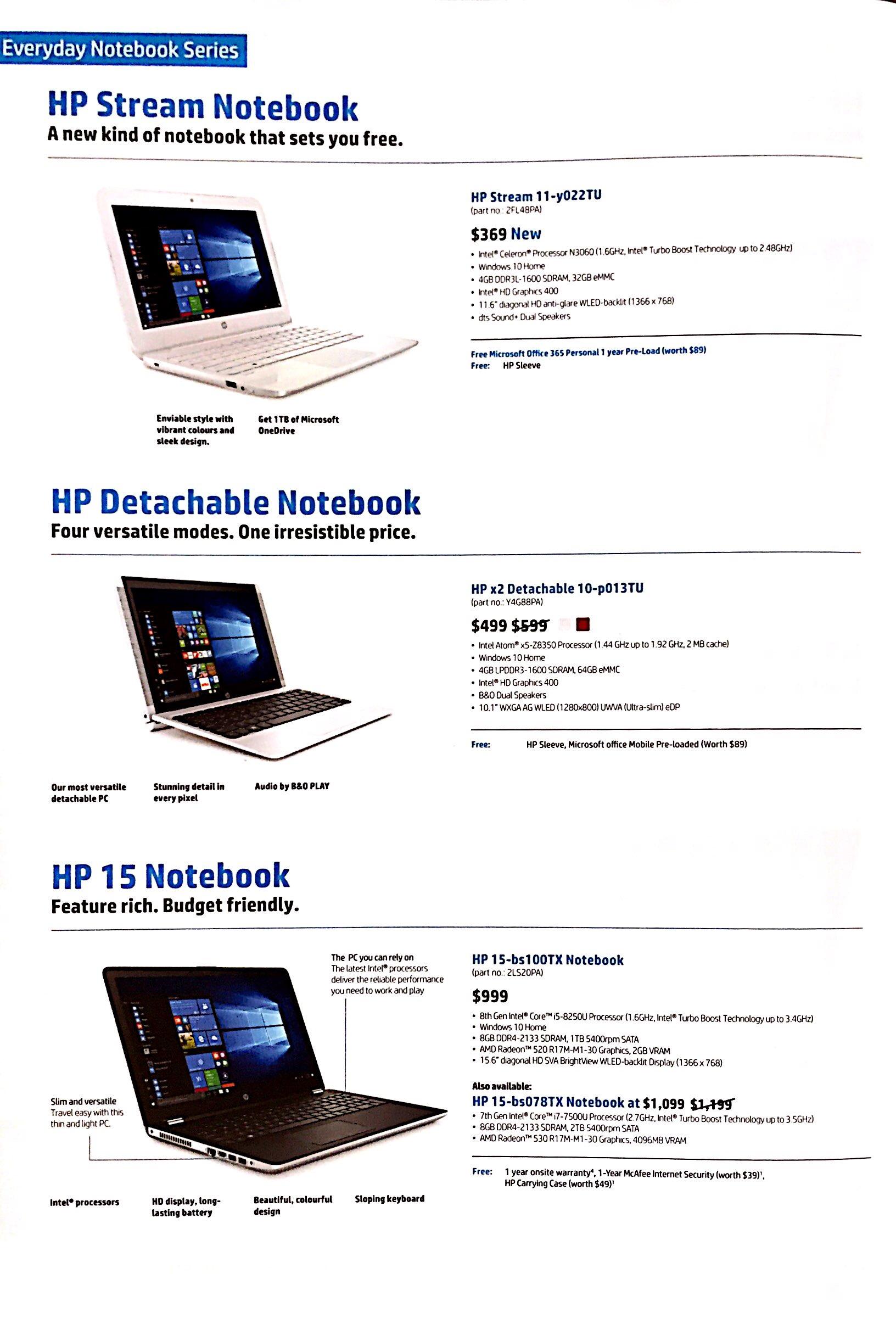 HP Deals @ CEF Show 2017 | Brochure pg1