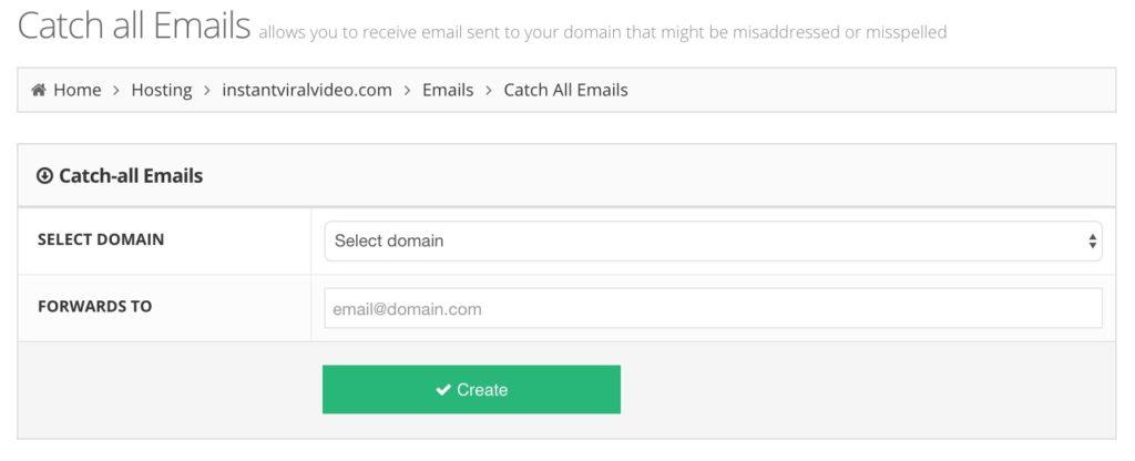 Hostinger Catch All Email