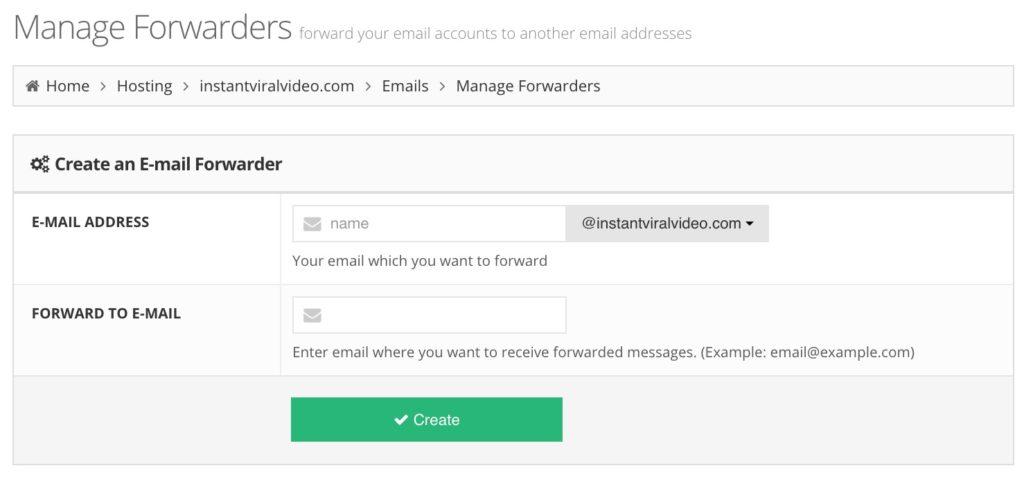 Hostinger Email Forwarder
