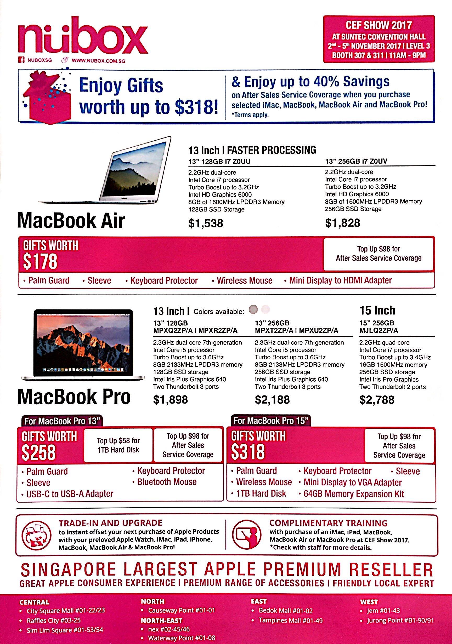 NUBOX Deals @ CEF Show 2017 | Brochure pg1