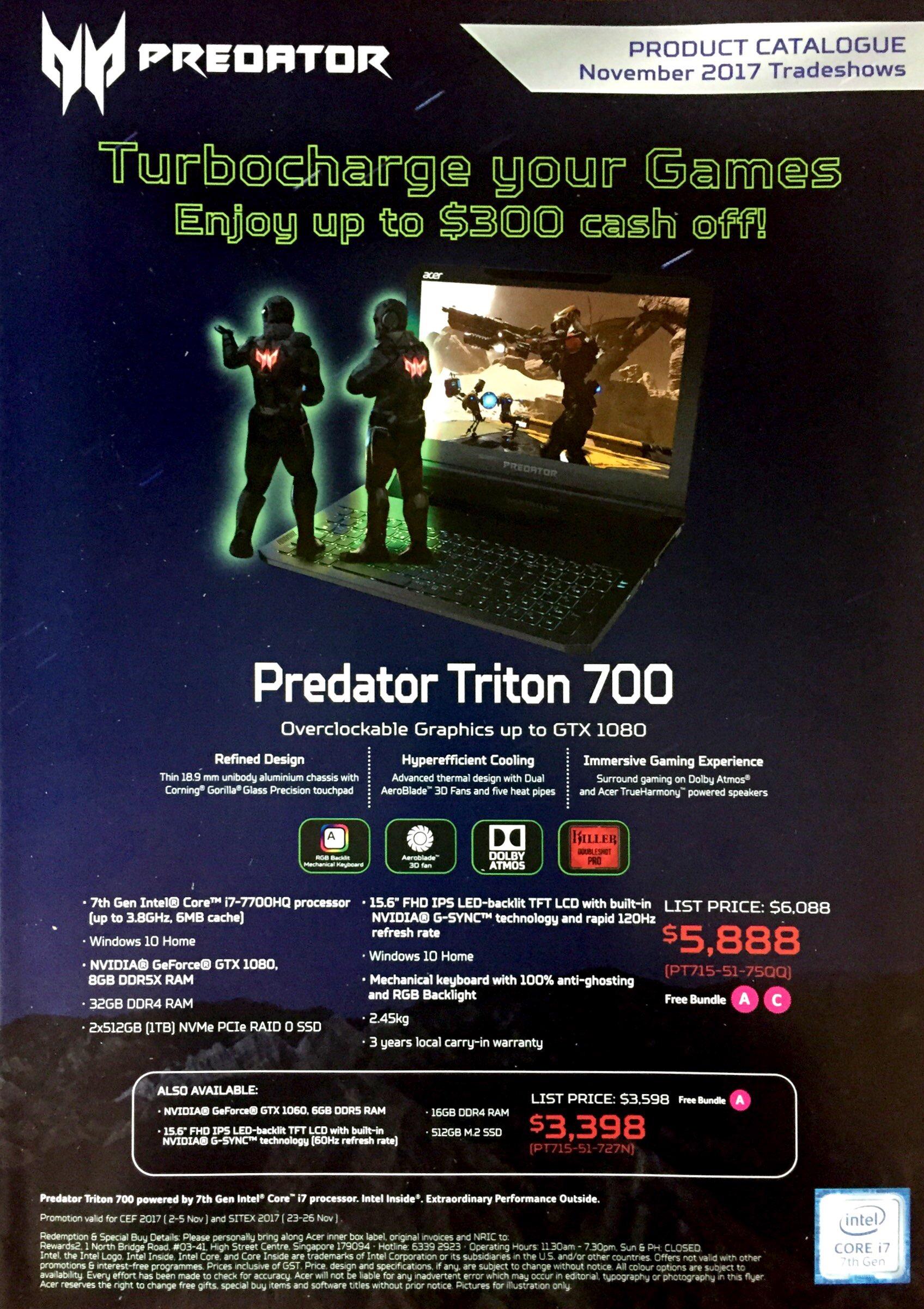 Predator Deals @ CEF Show 2017 | Brochure pg1