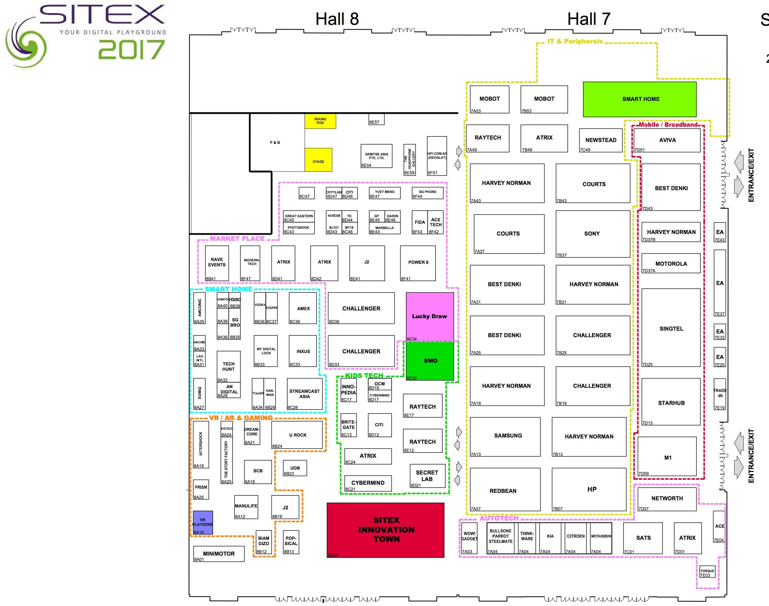 SITEX 2017 Floor Plan